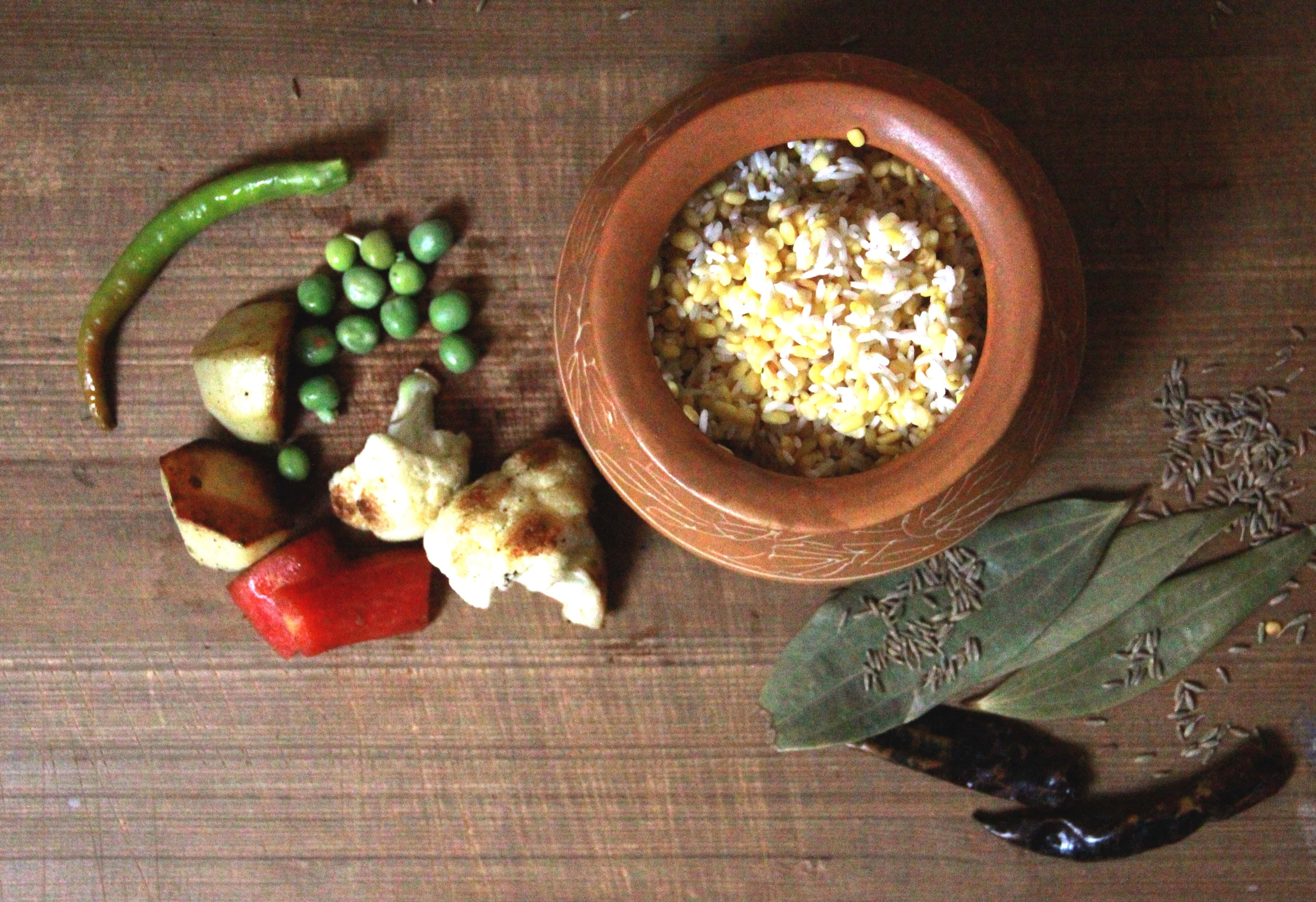 Ingredients for Khichuri, a bengali dish, #fromthecornertable