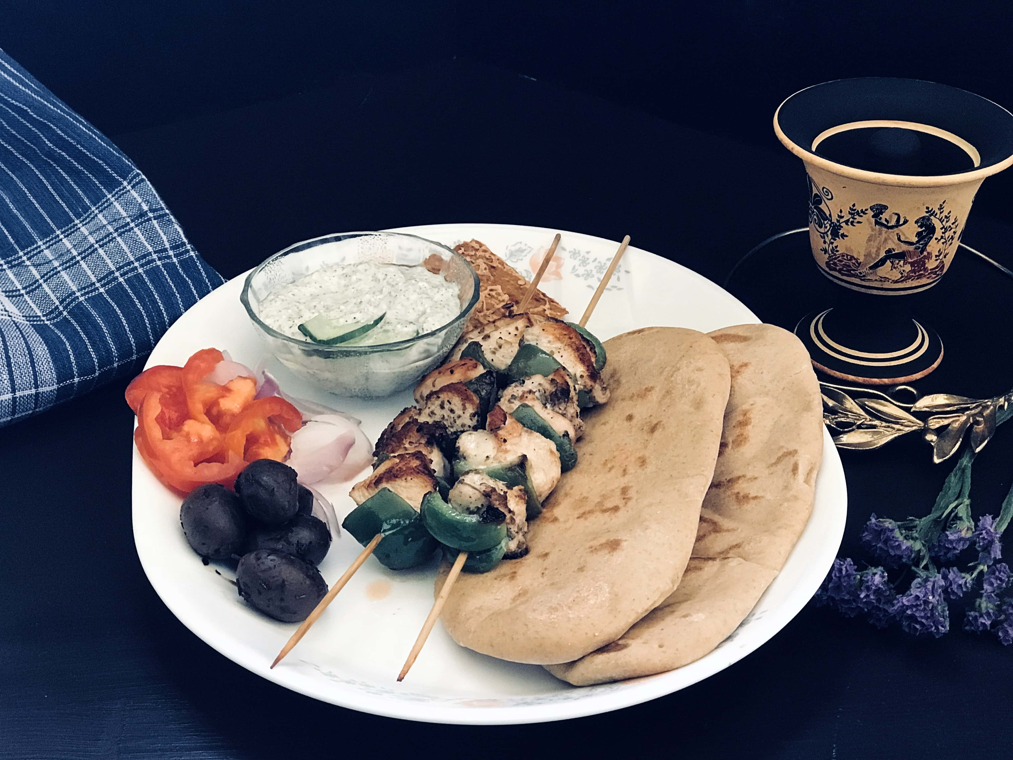 Greek Souvlaki, from the corner table, #fromthecornertable