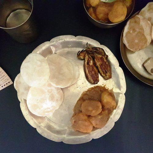 Begun Bhaaja (Bengali fried brinjal), from the corner table, #fromthecornertable