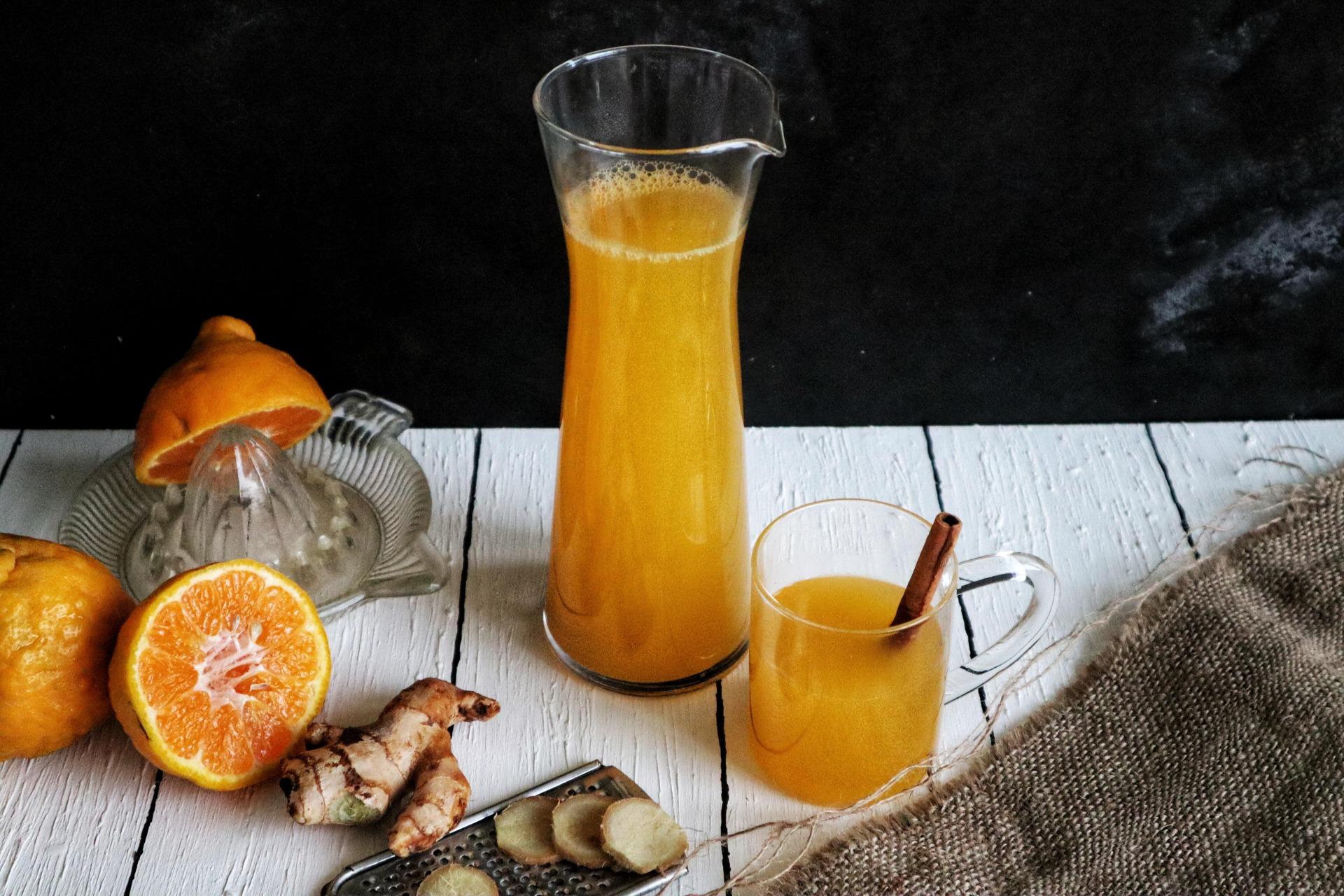 orange ginger tea, fromthecornertable, from the corner table, recipe, tea